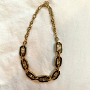 Gold and Black chain necklace
